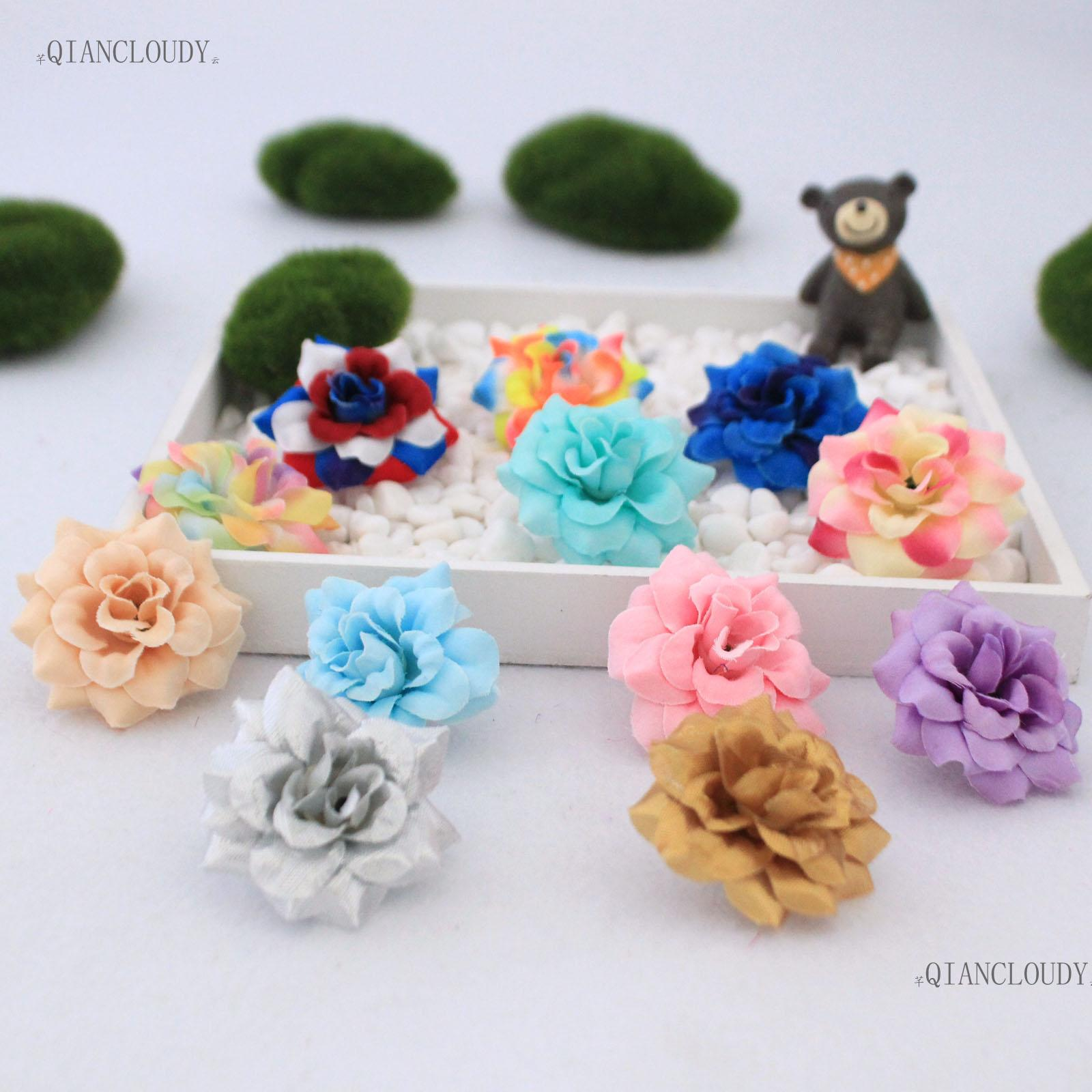 2019 Silk Flowers Artificial Diamond Velvet Rose Silk Flower Heads