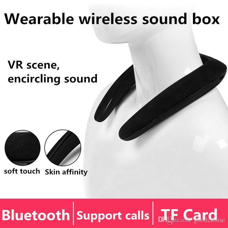ao ar livre loundspeaker portátil Bluetooth Wireless Speaker Neckband Neck apoio Speaker esporte FM AUX TF falantes estéreo USB