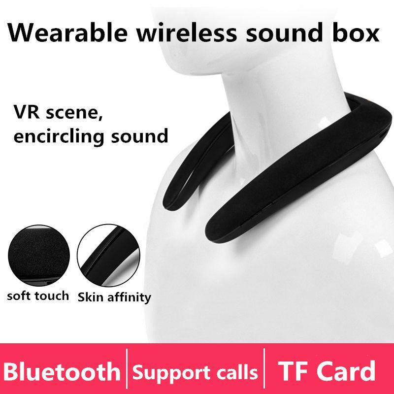 Mini Portable Bluetooth Wireless Lautsprecher Stereo Subwoofer Tragbare Lautsprecher Music Player Neckband Sport Lautsprecher für Smartphones