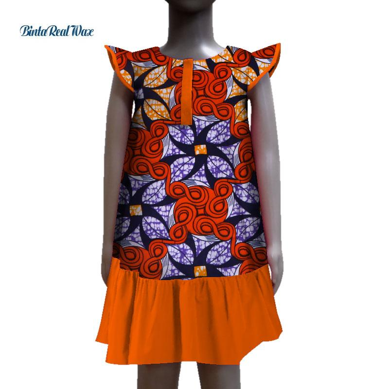 2019 New Lovely Baby Girls Dress African Wax Print Dresses For Kids