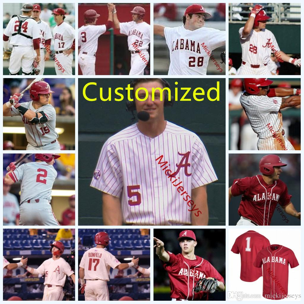 6a9fdd090 2019 Custom Alabama Crimson Tide COLLEGE Baseball Jersey Brock Guffey Alex  Avila Cobie Vance Brock Love Cody Henry Alabama Crimson Tide Jersey From ...