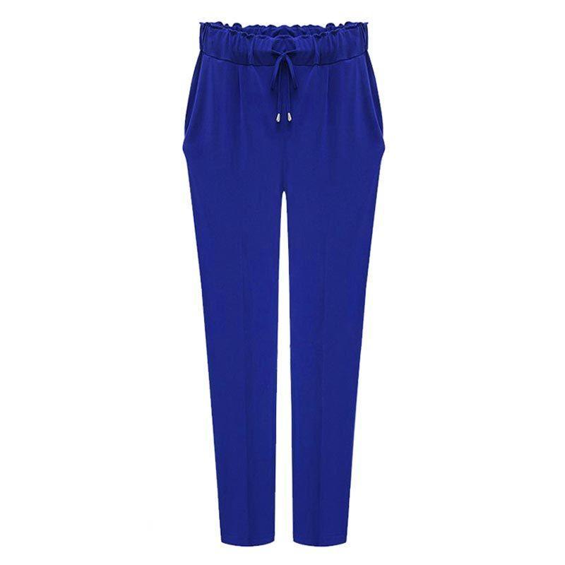 Compre Mulheres Harem Pants 2019 Plus Size 6XL Cintura Elástica Lazer  Tornozelo Comprimento Cor Sólida Calças Kpop Calças Femininas 3 Cor Venda  Quente De ... 2ad70d3c5f512