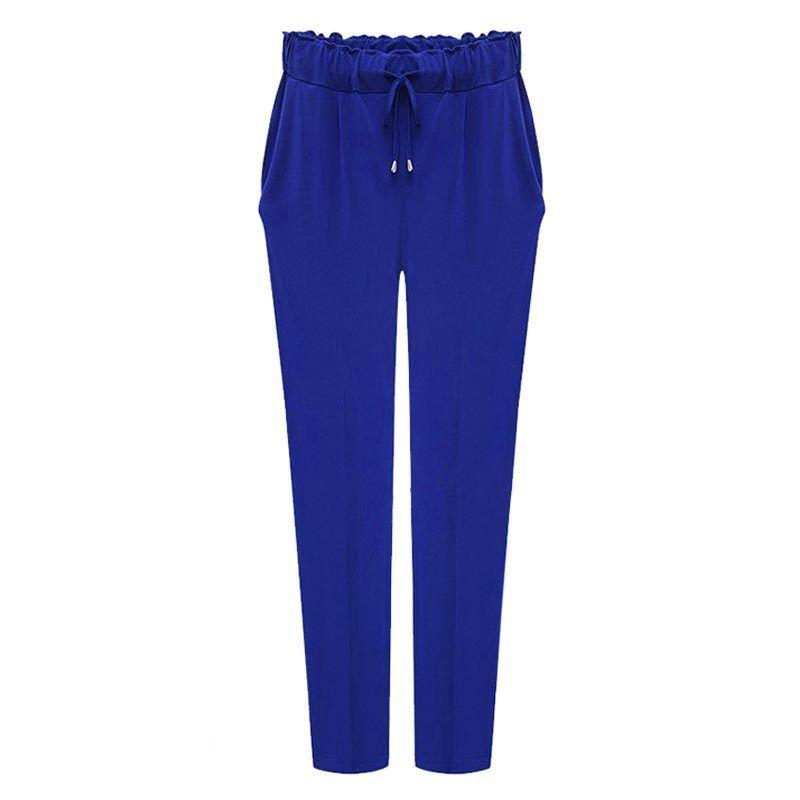 a80de827e39 2019 Women Harem Pants 2019 Plus Size 6XL Elastic Waist Leisure Ankle Length  Solid Color Trousers Kpop Pants Female Hot Sale From Jamie22, $27.36    DHgate.