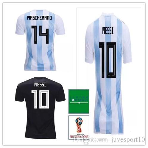 6f8c3952 Top Quality Argentina World Cup Soccer Jerseys 2018 MESSI Home Away DYBALA  DI MARIA AGUERO Thai Quality Argentina Football Shirts Argentina MESSI  DYBALA ...
