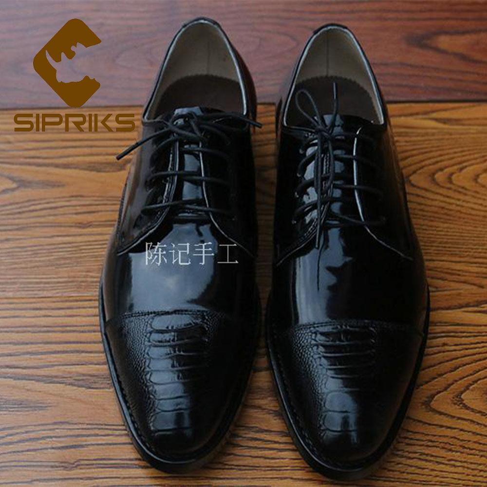 267ef2fab9d9 Sipriks Imported Patent Leather Black Dress Shoes Mens Shiny Leather  Oxfords Big Size Pointed Toe Church Shoes Goodyear Welted Boat Shoes Shoes  For Men From ...