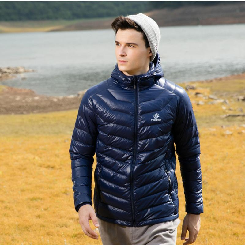 Outdoor warm Herren Mantel Wanderjacke für Winter Superleichte Daunenjacke Ski Kapuze Volltonfarbe Mit ultraleichter Dünne winddicht outwear Y76bvgfy