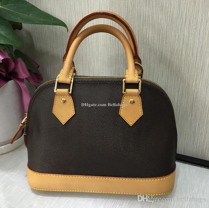 6d7ec1bf5074 221 Small Shell Bag Women Leather Canvas Small Handbag Fashion Brand  Designer Original Design Messenger Bag High Quality Purses Designer Handbags  From ...
