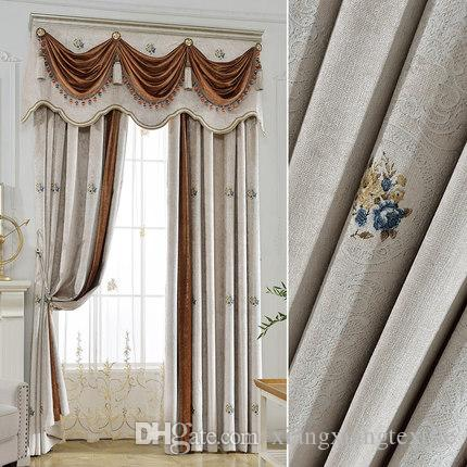European Style French Mosaic Curtain Fabric Finished Products Window Living Room Bedroom Online With