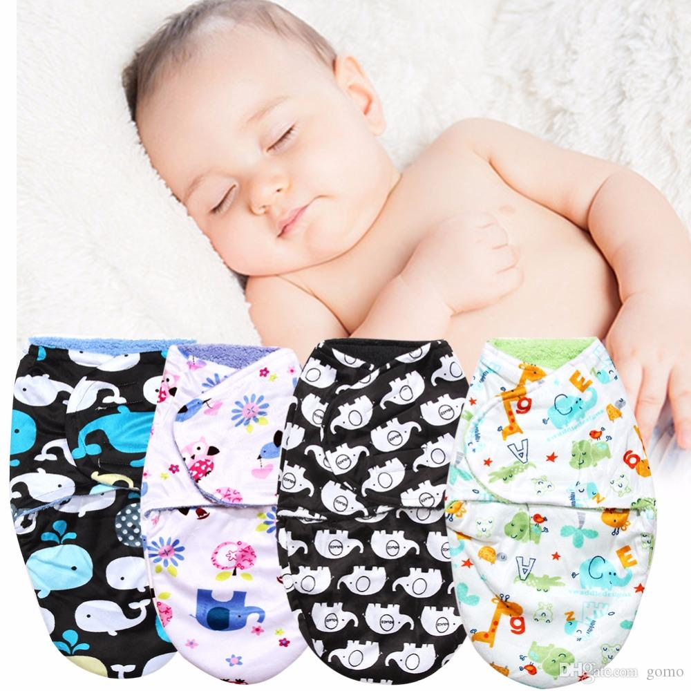 Baby Swaddle Wrap Double Layer Short Plush Baby Blanket Baby Quilt