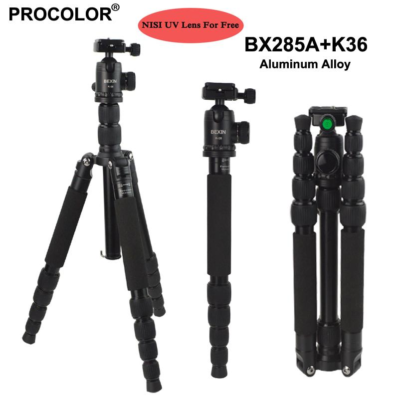 Professional Portable Photography Aluminum Tripod Change Monopod / Panoramic Ball Head / photo camera stand For DSLR Camera