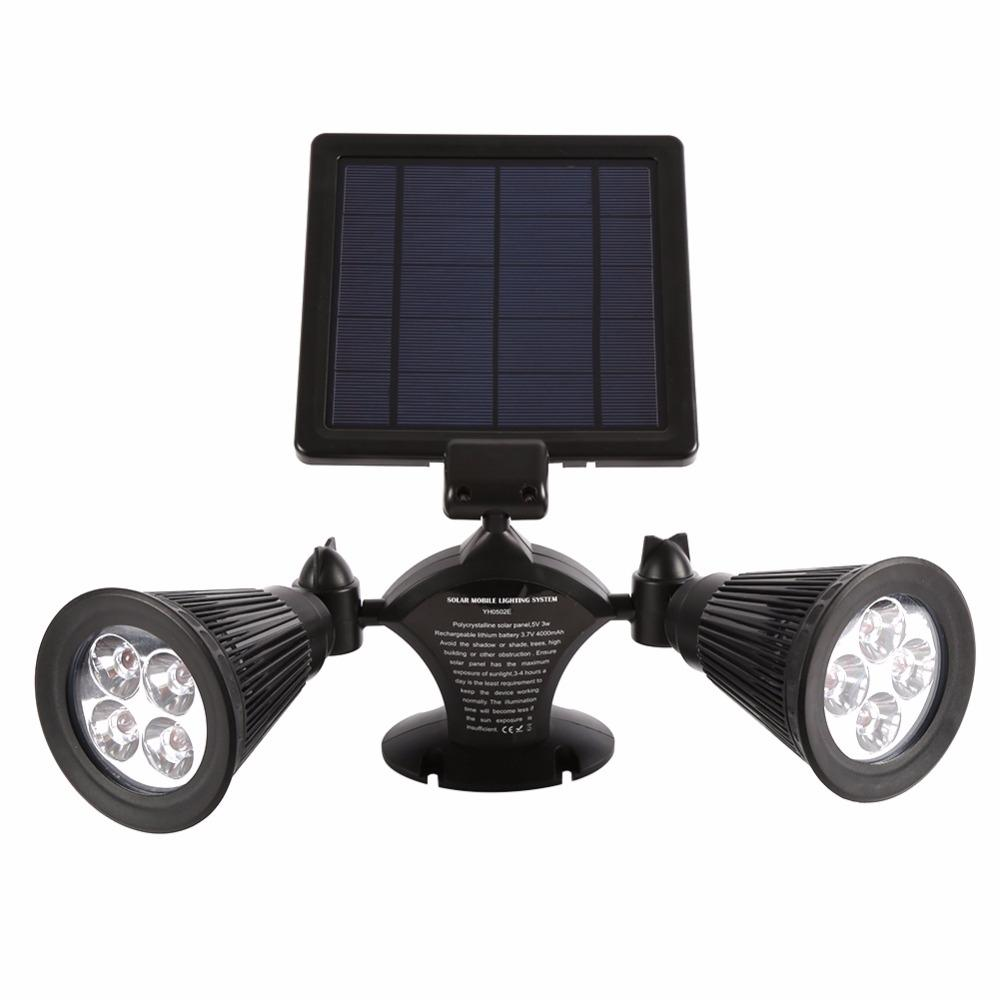 wholesale dealer 15634 9b6d1 Double HeadSolar Light LED Garden Spotlight Outdoor Spot Light Great for  Landscaping Trees Bushes/Security Ground/Wall