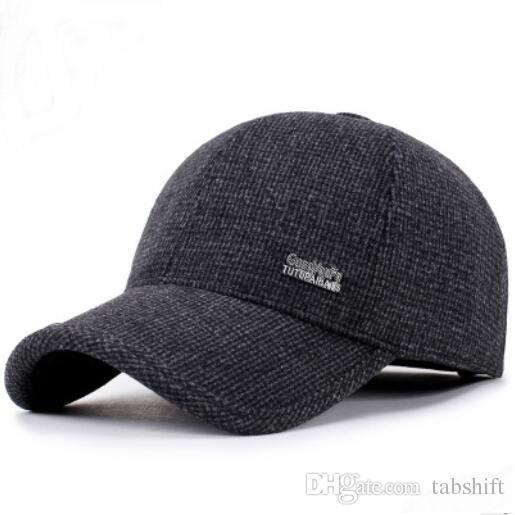 3e9dd7ac6d94 Nueva gorra de moda para hombre gorras de béisbol hombre de otoño e  invierno gorro de pelo para hombre