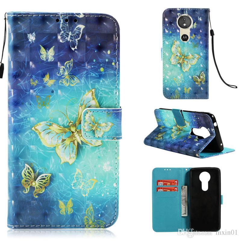Custodia in pelle 3D con portafoglio flip Flip PU MOTO E4 E5 C G5 G5S G6 Plus Z2 Play Nokia 2.1 3.1 5.1 3.1 6 2018 7 Plus ZTE V9 OnePlus 5 5T 6