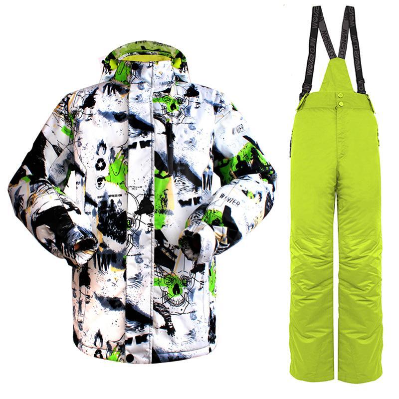 8546837d6b 2018 New Waterproof Brand Ski Suit Warm Winter Ski Jacket Pants ...
