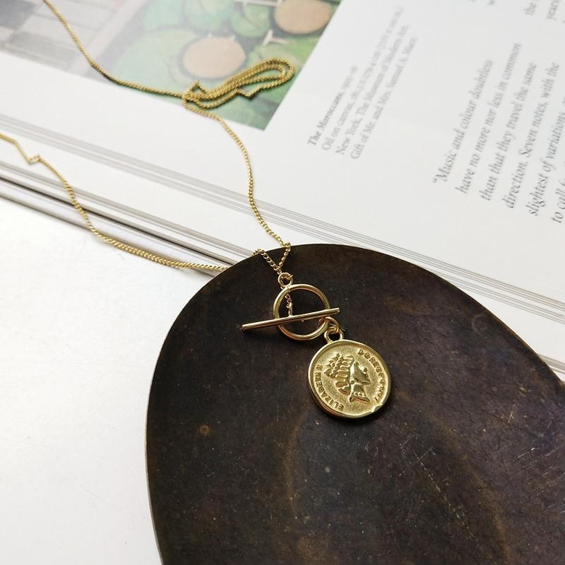 cd9977944cbcb4 2019 LouLeur 925 Sterling Silver Original Figure Coin Pendant Gold Fashion  Sweater Chain Necklace For Women Fine Jewelry Y1892806 From Zhengrui02, ...