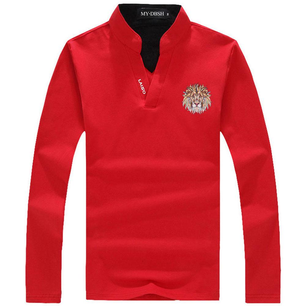 2018 2018 New Fashion Cool Lion Design Men New Summer Casual Polo