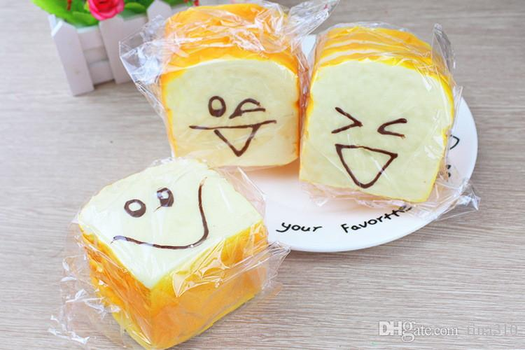 Jumbo Squishy Affettato Toast Toy Cellulare Bread Strap Pane Morbido Profumato Funning Mano Cuscino Regalo Casa Cucina Decor IB651