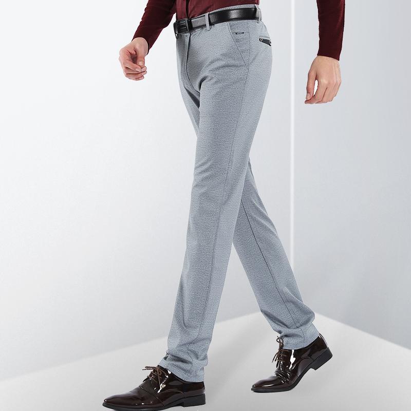 2019 ICPANS Business Wedding Dress Pants Men Straight Business Suit Pants  Office Formal Men Suit Trousers Plus Size 38 40 From Hermanw f6ad2b4b0ea9