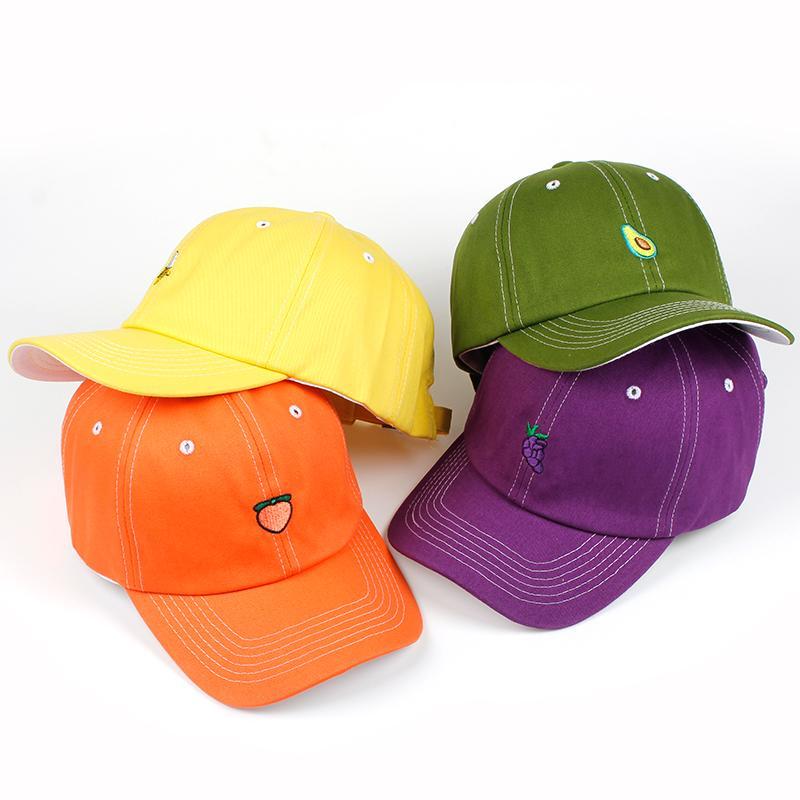 c51728e1821 2018 New Fashion Fruit Fresh Cute Lovely Dad Hat Girls Youth Baseball Cap  Hat Summer Lovely Green Orange Purple Yellow Caps Caps For Men Custom  Baseball ...