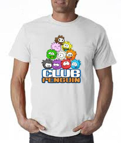 e6736433e PUFFLE CLUB PENGUIN GROUP 2 T SHIRT POLYESTER SUBLIMATION PRINTED Mens 2018  Fashion Brand T Shirt O Neck 100%cotton Cheap T Shirts Online Biker T Shirts  ...
