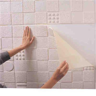 3d Diy Wall Stickers Foam Wallpaper Self Adhesive Tiles Waterproof ...