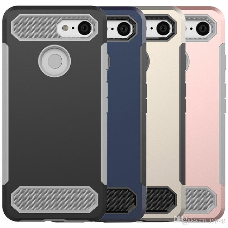 best sneakers bf58c f60cc For Google Pixel 3 Case 2in1 TPU material and Poly Carbonate Carbon Fiber  Series For Google Pixel 3 XL