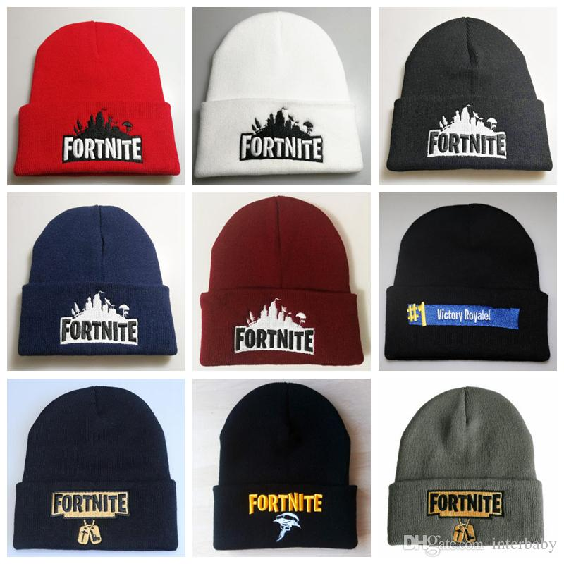 Fortnite Hats Winter Knitted Beanies Fortnite Battle Warm Caps Hip Hop  Embroidery Llama Knitted Caps Hat Teenager Skull Beanie YFA609 Fortnite Hats  Hip Hop ... b5b7e8cba143