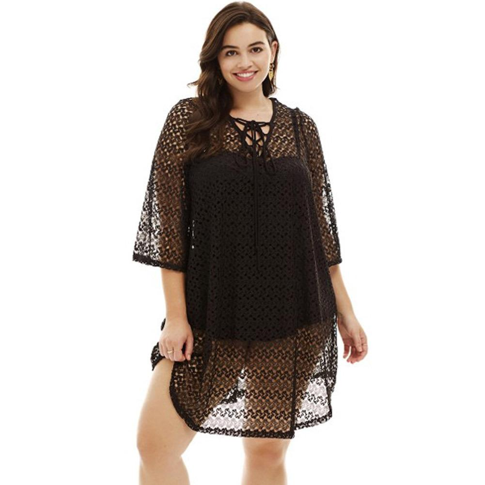 2019 Crochet Lace Up Plus Size Cover Up From Linxinghui2011 1257