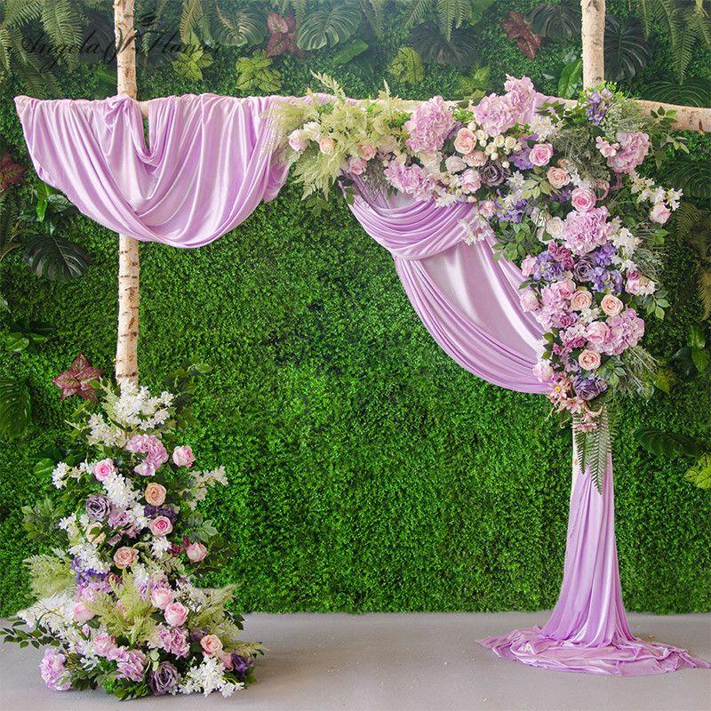 Diy Wedding Decoration Prop Artificial Flower Row Road Arch Silk