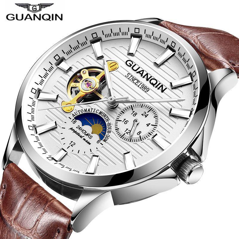 Compre GUANQIN 2018 Relojes Para Hombre De Primeras Marcas De Lujo Reloj  Automático Esqueleto Reloj Mecánico Hombres A Prueba De Agua Relojes De  Pulsera ... 385f6f23a861