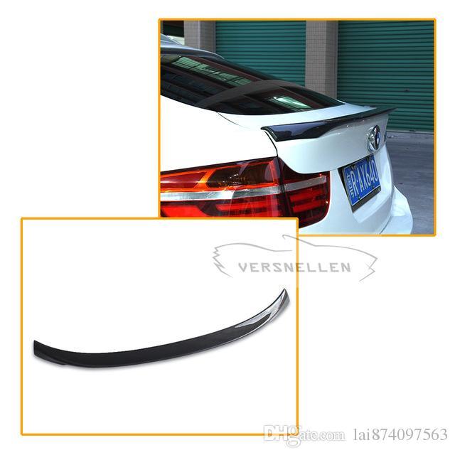 Compre Material De Fibra De Carbono Para BMW X6 F16 Spoiler 2014 2015 2016  UP X6 Carbon Spoiler Traseiro M Estilo De Desempenho De Lai874097563, ... 487e3e0b78