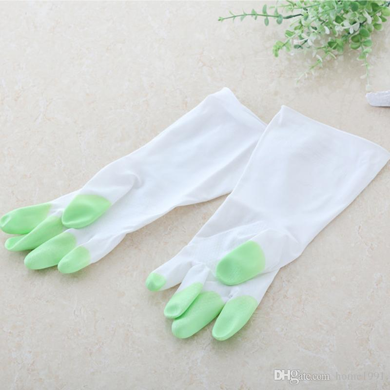 New household cleaning dishwashing gloves laundry clothes cleaning latex waterproof rubber gloves housework thin plastic gloves