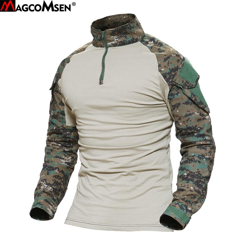 Magcomsen Man Multicam T Shirts Army Camouflage Combat Tactical T Shirt  Military Men Long Sleeve T Shirt Hunt T Shirts Ag Fed 22 T Shirts Only  Awesome Tee ... 19c3a42c54dc