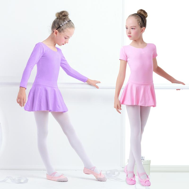 93ab2b439 2019 Cotton Ballet Dance Dress Toddler Girls Child Ballet Class Dance  Clothes Training Dancewear From Yuhuicuo, $43.33 | DHgate.Com