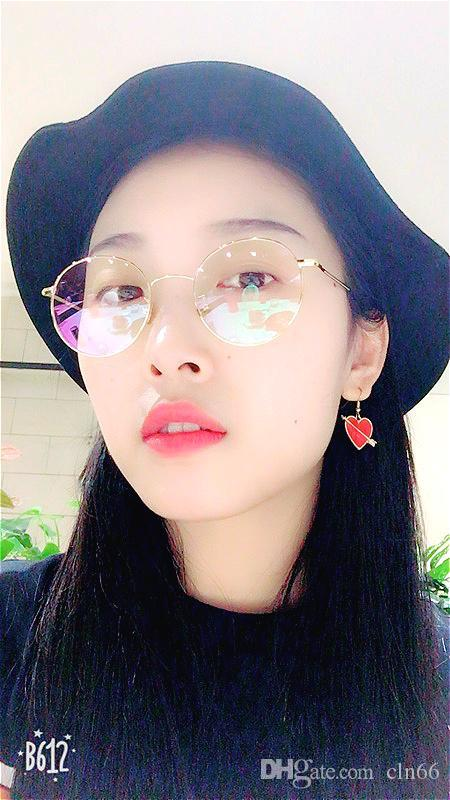 bc6726e1fc ... Glasses Frame Female Super Light With Myopia Retro Literary Temperament  Guochao Han Male Face Thin Flat Mirror Cheap Designer Eyeglasses Frames  Colorful ...