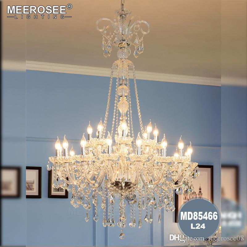 Project Large Crystal Chandelier Led Lamparas Sconce Stairway Suspension Lamp Gold Hotel Chandelier E14 Led Lustre Light Fixture Ceiling Lights & Fans