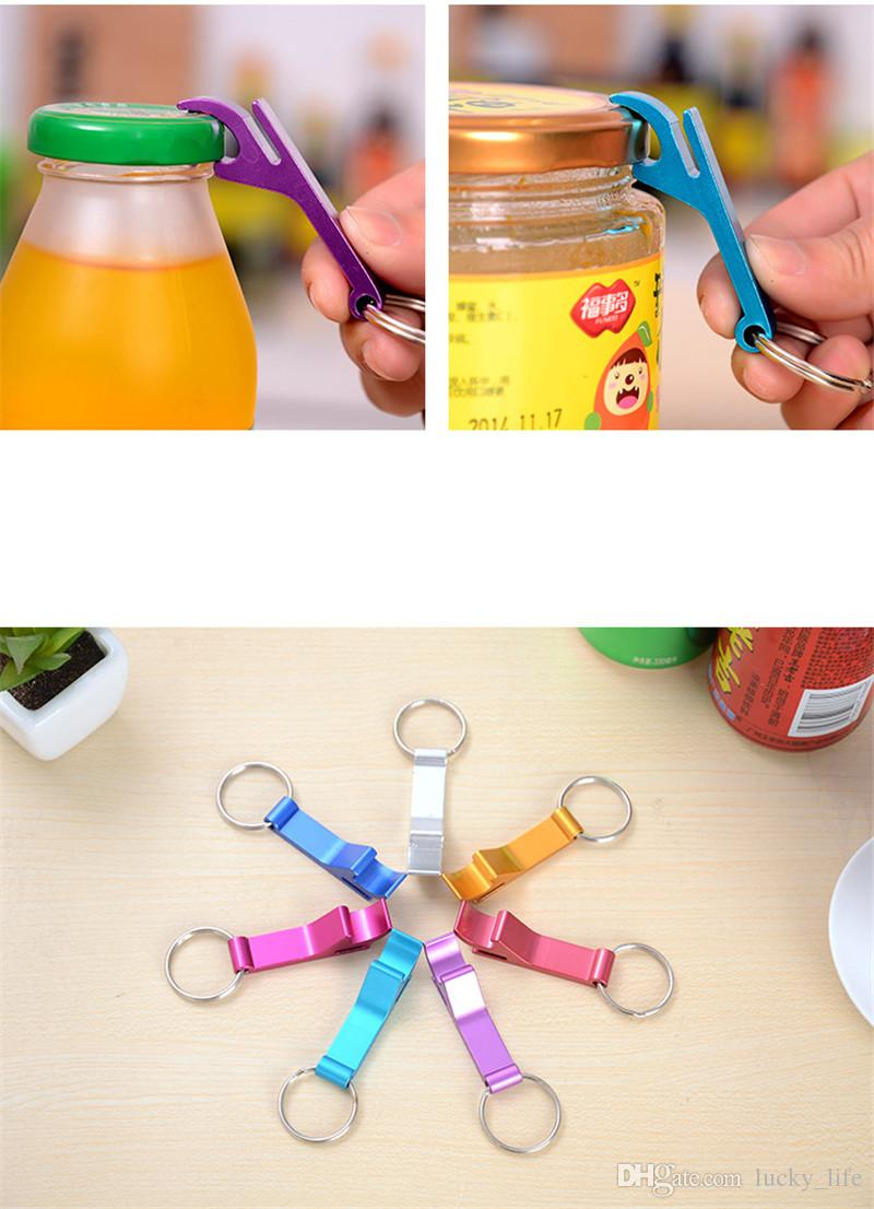 Bira Can Şişe Açacağı Alüminyum Alaşım Açacağı Anahtarlık Taşınabilir İşlevli Açacağı Mutfak Yemek Bar Aracı Birçok Renkler YW169