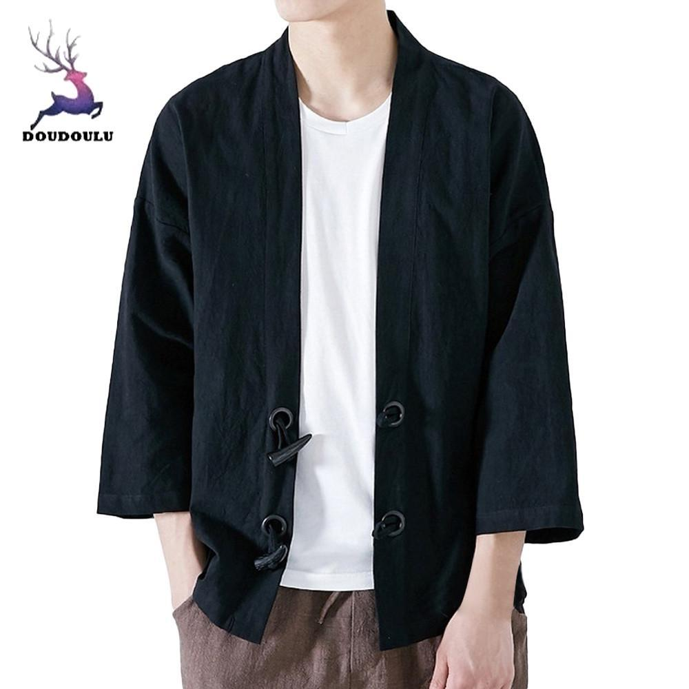 da695fe20f8 DOUDOULU Fashion Men Japanese Yukata Casual Coat Kimono Outwear Cotton Vintage  Loose Top Men Clothing Jackets For Male 2018  30 Jackets Cheap Jackets ...