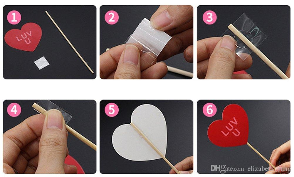 /pack Wedding Photo Booth Props Kit Bridal Shower Photo Booth Prop with Wooden Dowels for Wedding Shower Party Decorations Supplies