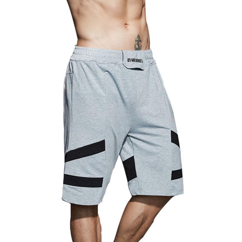 2019 New Fashion Summer Leisure Men Knee Length Shorts Color Patchwork Just Break It Joggers Short Sweatpants Man Bermuda Shorts Handsome Appearance Men's Clothing