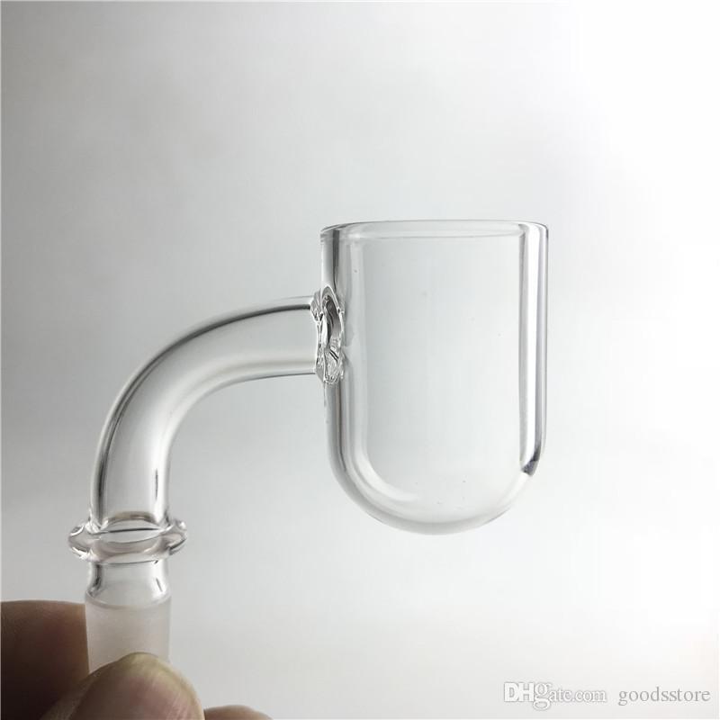 25mm XL 3mm Spessore al quarzo con punta a razzo Chiodo a testa piatta con tondo superiore Chiodi senza punta a fondo tondo con 10mm 14mm Tubi d'acqua in vetro