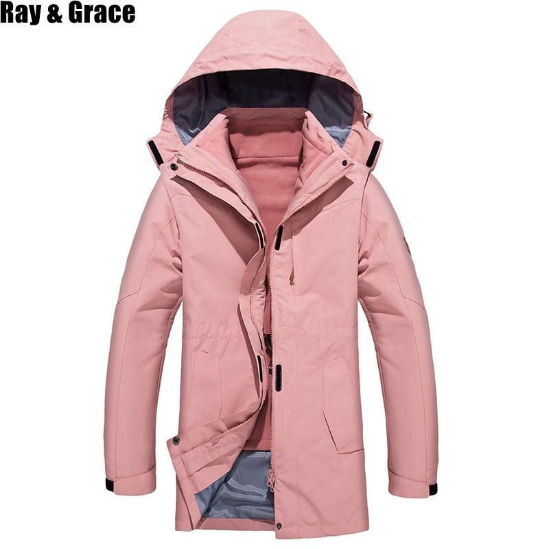 RAY GRACE Outdoor Hiking Jackets Men Women Autumn Winter Waterproof Fishing  Jackets Hooded Mountaineering Suits Thermal Clothing Hiking Jackets Cheap  Hiking ... 2991b0450