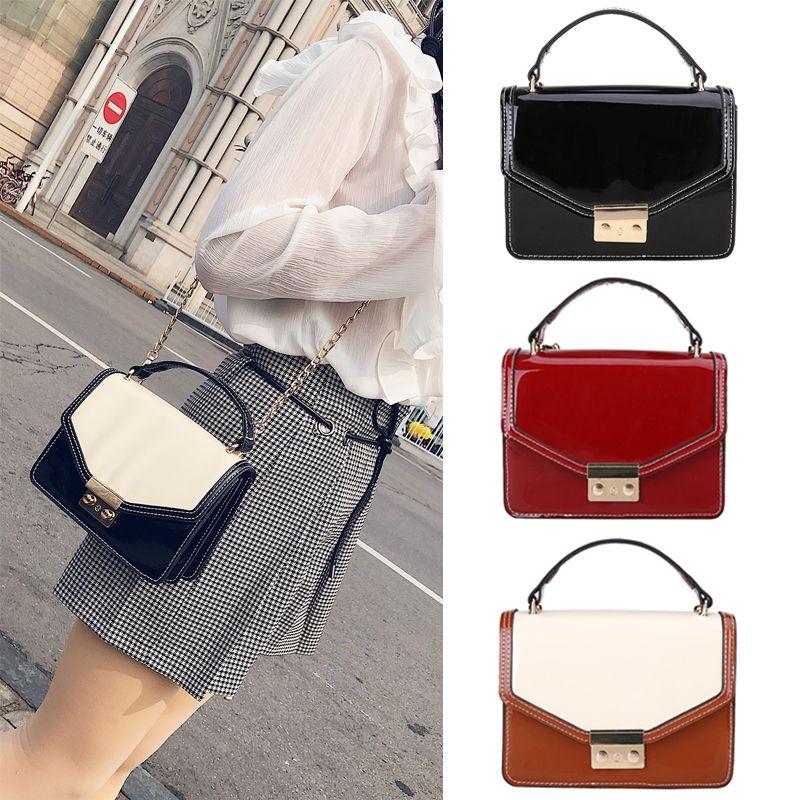 Fashion Women Messenger Bag Quality Leather Women Flap Chain Strap ... a305b8977acce