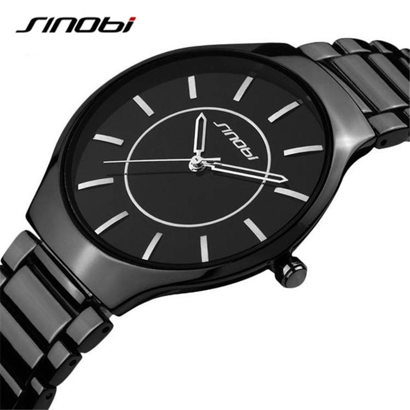 8dca591cb76 Compre Sinobi Marca De Luxo Fino Relógio Homens De Quartzo Preto Banda De  Aço Inoxidável Relógio De Pulso Mens Relógios De Negócios Masculino Relógio  De ...
