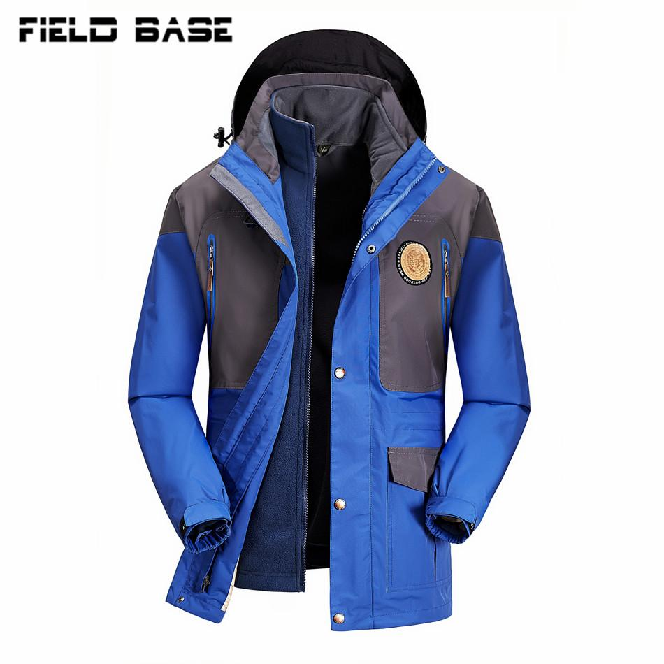 Brand Clothing Warm Winter Jacket Men Two In One Down Parka Coat