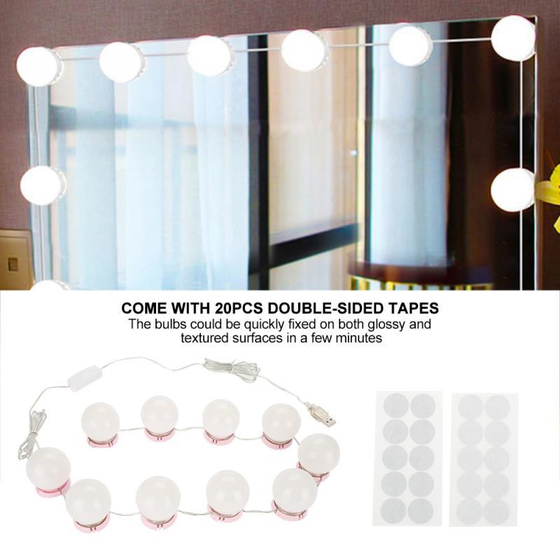 10w Led Bulbs Mirror Light Hollywood Vanity Makeup Mirror Lights