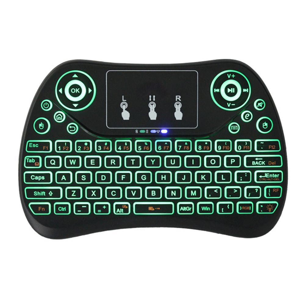 5d331ab0ba43 Mini Wireless Keyboard with Touchpad Rechargeable Fly Air Mouse 2.4Ghz  Smart Game Backlit Keypad for Computer Android TV Box PC