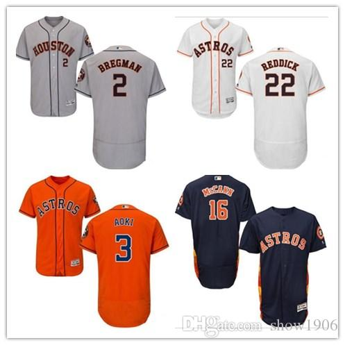 165b41506e5 Custom Men's Women Youth Majestic Astros Jersey #22 Josh Reddick 16 ...
