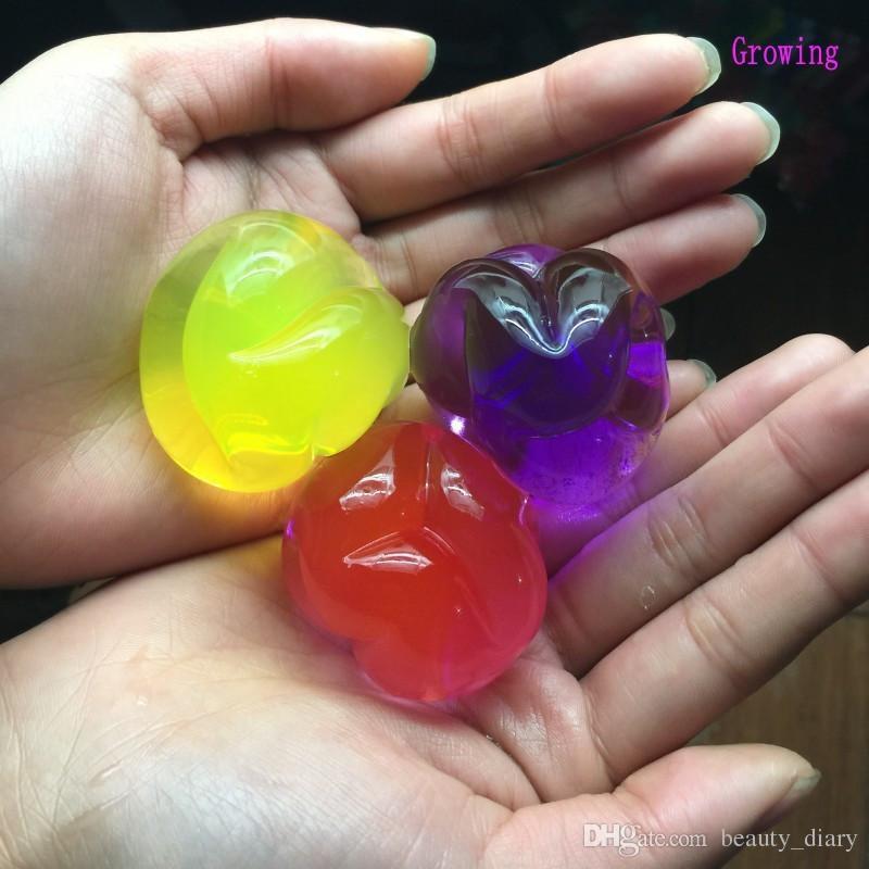 25 pz Perla Forma 13-15mm Grande Terreno di Cristallo Perle di Acqua Fango Crescere Magia Gelatina Palla Giocattolo Bambini Wedding Home Decor Idrogel Beads