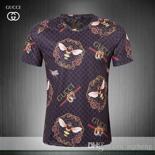 1d3b75750 TT Medusa T Shirts European Mens Summer Cotton T-shirts Green Flower ...